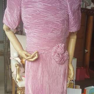 粉色系 美國製特別小禮服