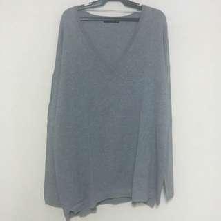 Zara Gray Knitted Sweater
