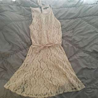 Body And Soul Nude Lacy Dress
