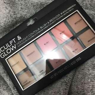 Highlight, Contour And Blush Palette
