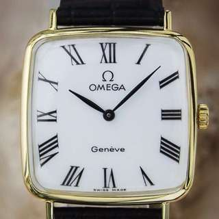 Omega Geneve Manual 27mm Unisex Gold Plated Vintage 1980s Watch