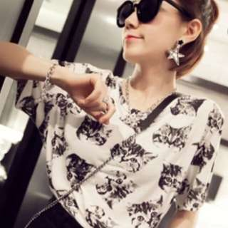 Cotton Black Cat Korean T