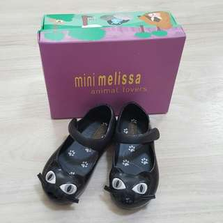 mini melissa專櫃黑色貓鞋 原廠正品