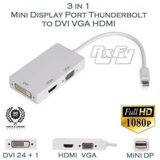 ($14.90) Mini DisplayPort Minidp mDP Thunderbolt to DVI VGA HDMI Adapter Convert Cable