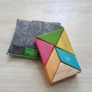 美國 Tegu無毒安全磁性積木 口袋組