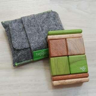 美國 Tegu無毒安全磁性積木、口袋玩具組