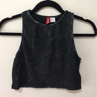 Black H&M Grunge Crop top