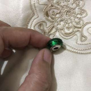 Authentic Pandora Green Faceted Murano