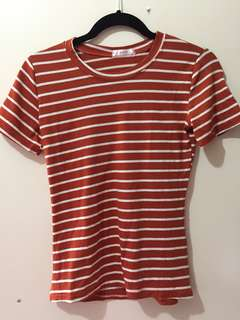 Striped orange t-shirt