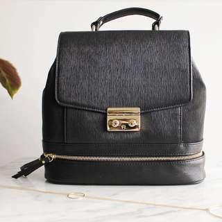 Zara Black Lady-Like Backpack