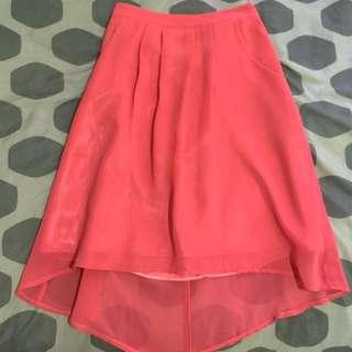 Chiffon Fuschia Pink Skirt