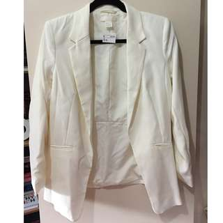 White H&M work blazer BNWT