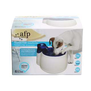 AFP All For Paws Fountain Fresh Flowing Drinking Water Fountain for Cats & Dogs