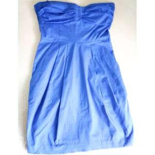 Blue mini dress by Mango