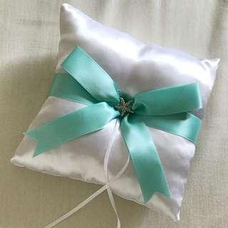 Tiffany blue & beach theme ring pillow