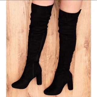 High Knee Heel Boots