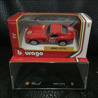 包郵 Shell 法拉利模型250GTO 加膠盒