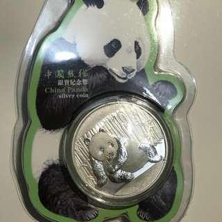 中國熊貓銀質紀念幣