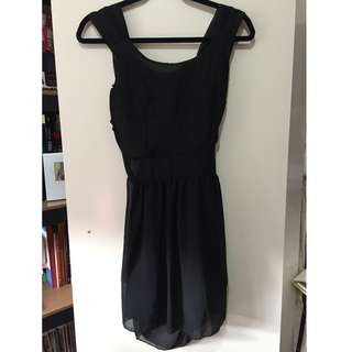 Black Open back formal dress