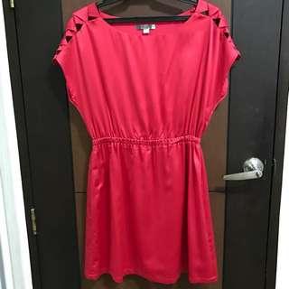 F21 Red Orange Dress