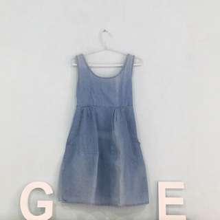 Denim Washed Dress Cute