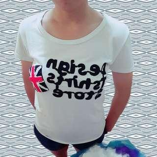 簡約英文T恤