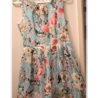 Size 8 Summer Floral Dress