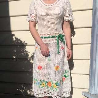 Vintage Crotchet Dress