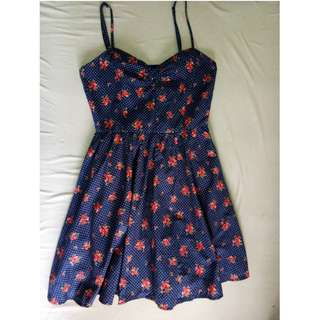 Blue floral dress by Forever21