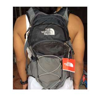 The North face Hydration backpack (black gray)