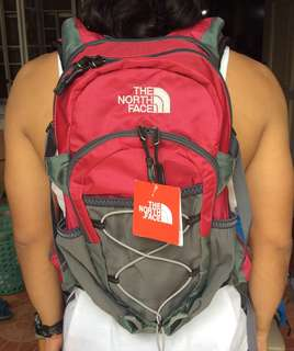 The North face Hydration backpack (red)