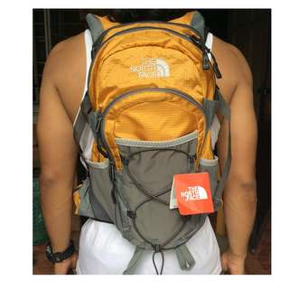The North face Hydration backpack (yellow)