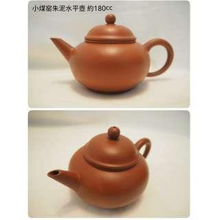 紫砂 茶壺 朱泥 水平壺 180cc (宜興訂製,正品正貨)