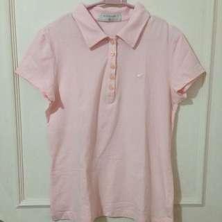 Giordano Baby Pink Collar Shirt