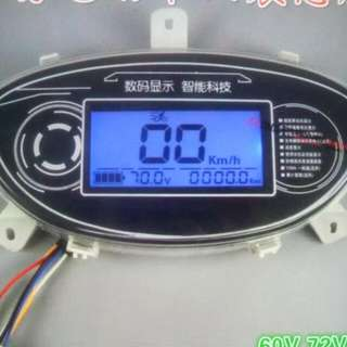 speedometer voltage meter Ebike bh 72 V
