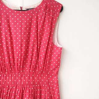 Emily And Fin Spotty Tea Dress Size Small
