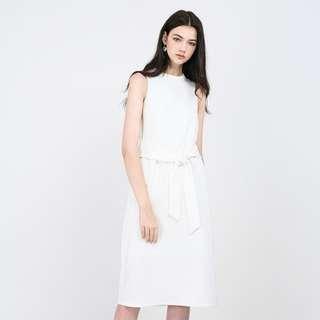 Reduced: BN Runway Bandits Elnor White Dress With Sash