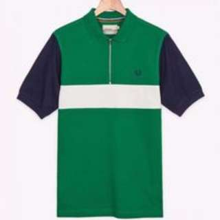SALE Fred Perry Bradley Wiggins Zip Polo Shirt