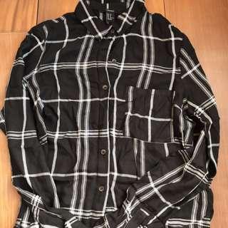 二手衣物隨便賣🍒f21黑白格子長袖
