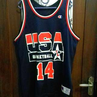 "Baju Basket "" USA Basketball "" ""Mourning 14"""