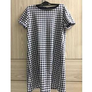 MNG CHECK SHIFT DRESS