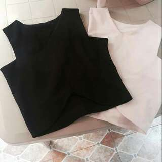 Sleeveless V -cut Croptop