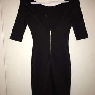 BRAND NEW TAGS ATTACHED  Size XS  Sleek and sexy ladies dress/shirt with gold zipper accent