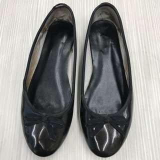MAUD FRIZON PARIS 亮面漆真皮娃娃鞋 38號