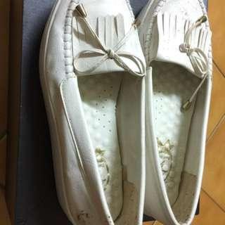 鬆糕鞋 白色 好搭 內增高