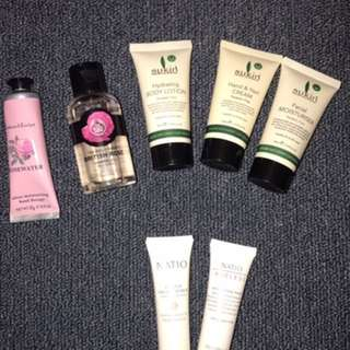Travel Size Body Care Products