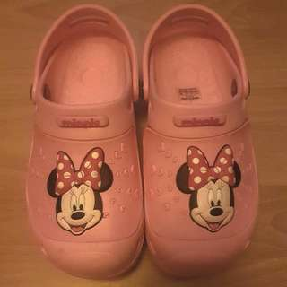 BN Minnie Mouse Crocs Like For Gals - 8 To 9yrs