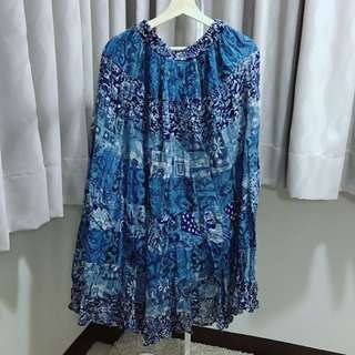 藍色暈染波希米亞風長裙