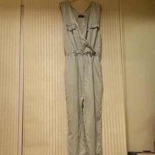 Temt Denim Jumpsuit Size 10