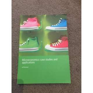 Microeconomics: Case Studies and Applications Textbook Jeff Borland BRAND NEW